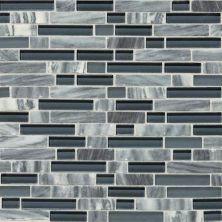 Daltile Stone Radiance Glacier Gray Marble Random Mosaic Blend SA5958RANDMS1P