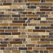 Daltile Stone Radiance Butternut Emperador Random Mosaic Blend SA6058RANDMS1P