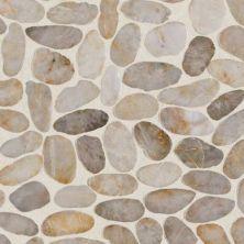 Daltile Stone Mosaics Creamy Sand River Pebble Mosaic Saw Cut DA06RIVRPEBMS1P