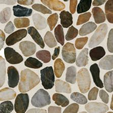 Daltile Stone Mosaics Earthy Blend River Pebble Mosaic Saw Cut Brown DA07RIVRPEBMS1P