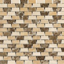 Daltile Marble Collection Adda Blend (brickjoint Polished) Brown DA83121BJMS1L