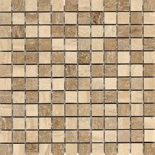 Daltile Travertine Collection Mediterranean Ivory/Noce Blend Polished Beige/Taupe DA8511MS1L