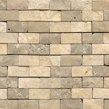Daltile Travertine Collection Mediterranean Ivory/Noce Blend Split Face Beige/Taupe DA8512SF1S