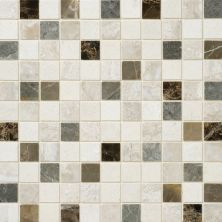Daltile Marble Collection Taro Blend (polished Mosaic) Gray/Black DA8911MS1L