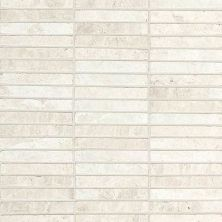 Daltile Marble Collection White Cliffs Straightjoint Mosaic White/Cream M105584SJMS1L