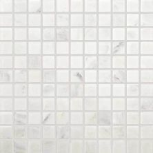 Daltile Marble Collection First Snow Elegance 1 x 1 Mosaic Tumbled M19011MSTS1P
