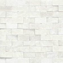 Daltile Marble Collection First Snow Elegance 1 X 2 Split Face Mosaic White M19012SF1S