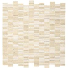 Daltile Marble Collection Crema Marfil Classico 1″ X Random Mosaic (polished, Honed And Sand Blasted) Beige/Taupe M7221RANDMS1P