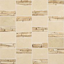 Daltile Stone Mosaics Crema Marfil Classico Abstract Mosaic Polished White/Cream M722ABSTRACMS1P