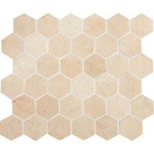Daltile Stone Mosaics Crema Marfil Classico 2 x 2 Hexagon Mosaic Polished M7222HEXMS1L