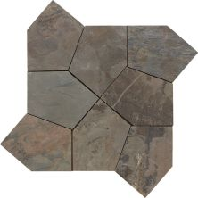 Daltile Slate Collection California Gold (pattern Flagstone Natural Cleft Gauged) Gray/Black S700PATTNFLAG1P