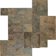 Daltile Slate Collection California Gold (versailles Pattern Natural Cleft Gauged) Brown S700PATTERN1P