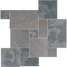 Daltile Slate Collection Indian Multicolor (versailles Pattern Natural Cleft Gauged) Gray/Black S711PATTERN1P