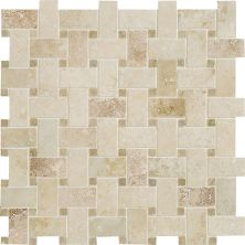 Daltile Travertine Collection Turco Classico/Noce (basketweave Honed) Beige/Taupe T324BSKTWVMS1U
