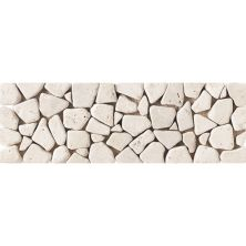 Daltile Travertine Collection Baja Cream (pebble Accent) White/Cream T720412PEBTS1P