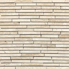 Daltile Travertine Collection Baja Cream (3/8″ Random Polished, Honed, And Split Face) Beige/Taupe T72038RANDMS1P