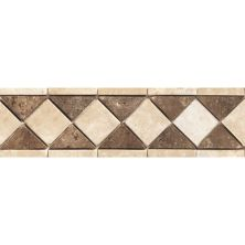 Daltile Travertine Collection Sand/Walnut Diamond Accent Beige/Taupe TS12412BR1P