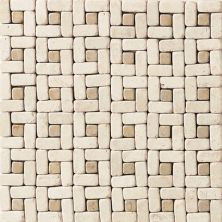Daltile Travertine Collection Baja Cream/Champagne Gold Pinwheel Accent Beige/Taupe TS531212PW1P