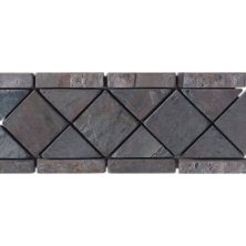 Daltile Slate Collection Indian Multicolor (diamond Accent) Gray/Black TS76411BR1P