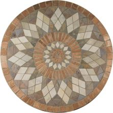Daltile Medallion Collection Zinnia TSM736RNDMED1P