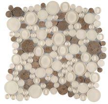 Emser Lucente Pattern Stone Circle Blend Glass Glossy/Matte Lido W80LUCELI1212MOC
