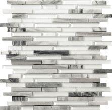 Emser Lucente Linear Stone & Glass Blend Glass Gloss/Matte Grazia W80LUCEGR1313MOB