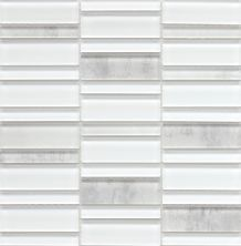 Emser La Vie Glass Glossy White W13LAVIWH1212MO