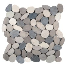 Emser Venetian Pebbles Flat Pebbles Honed Medici M18VENEME1212MF