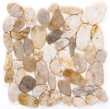 Emser Rivera Pebbles Flat Pebbles Honed Cream M05PEBBCR1212MF