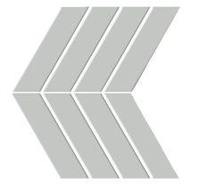 Emser Shape Chevron Porcelain Glossy Gray W71SHAPGR0913MCVG