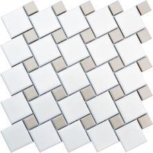 Emser Spin Porcelain Matte White/Fawn W95SPINWHFA1111MO