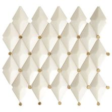 Marazzi Castellina™ Harlequin White and Brass CT58-1312