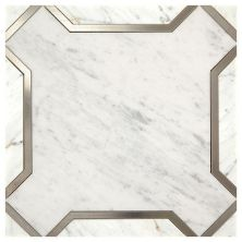 Marazzi Nouveau White and Titanium CT60-1111