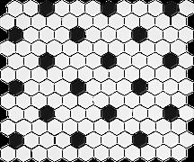 Flordia Tile Mosaicart Epic Black & White FTI815M1X1HEX