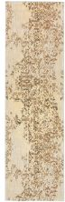 "Karastan Rugs Cosmopolitan Nirvana Brushed Gold by Virginia Langley Antique White 2'4″ x 7'10"" Runner 9095320047028094VL"