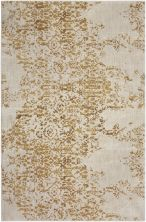 "Karastan Rugs Cosmopolitan Nirvana Brushed Gold by Virginia Langley Antique White 9'6″ x 12'11"" 9095320047114155VL"