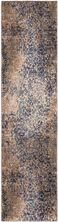 """Karastan Rugs Cosmopolitan Nirvana Indigo by Virginia Langley Mushroom 2'4″ x 7'10"""" Runner 9095350134028094VL"""