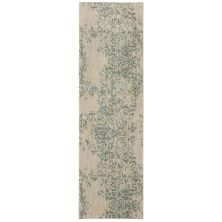 "Karastan Rugs Cosmopolitan Nirvana Jade by Virginia Langley Antique White 2'4″ x 7'10"" Runner 9095360128028094VL"