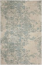 "Karastan Rugs Cosmopolitan Nirvana Jade by Virginia Langley Antique White 5'3″ x 7'10"" 9095360128063094VL"