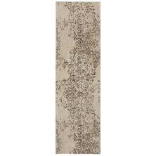 "Karastan Rugs Cosmopolitan Nirvana Smokey Grey by Virginia Langley Antique White 2'4″ x 7'10"" Runner 9095390116028094VL"