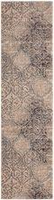"""Karastan Rugs Cosmopolitan Zendaya Indigo by Virginia Langley Antique White 2'4″ x 7'10"""" Runner 9095450134028094VL"""