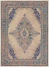 "Karastan Rugs Cosmopolitan Armitage Indigo Antique White 5'3″ x 7'10"" 9096150134063094IP"