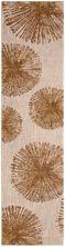 """Karastan Rugs Cosmopolitan Haight Brushed Gold Antique White 2'4″ x 7'10"""" Runner 9096480249028094IP"""