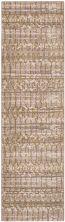 """Karastan Rugs Cosmopolitan Flirt Brushed Gold by Patina Vie Antique White 2'4″ x 7'10"""" Runner 9121920047028094PK"""