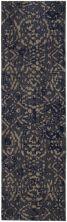 """Karastan Rugs Cosmopolitan Block Print Ink Blue by Patina Vie Ink Blue 2'4″ x 7'10"""" Runner 9163950139028094PK"""