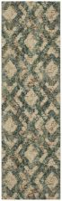 "Karastan Rugs Cosmopolitan Ponson Emerald Antique White 2'4″ x 7'10"" Runner 9169260138028094IP"