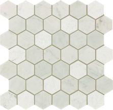 Mohawk Chateau Elegant Stone Bianco Carrara T843-CE40-12.37×12.62-MosaicFieldAccentTile-Stone