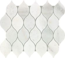 Mohawk Chateau Elegant Stone Santorini White T843-CE39-11.81×13.19-MosaicFieldAccentTile-Stone