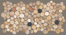 Mohawk Pebble Brooke Mosaic Fossil Wood T842-PB14-12.37×12-FieldTileMosaicFieldAccentTile-Mosaic