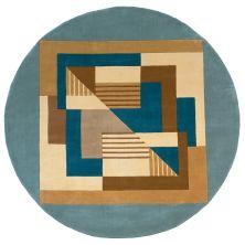 Momeni New Wave Nw-06 Blue 7'9″ x 7'9″ Round NEWWANW-06BLU790R